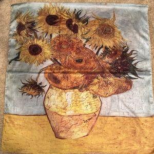 Vincent Van Gogh oil painting silk scarf